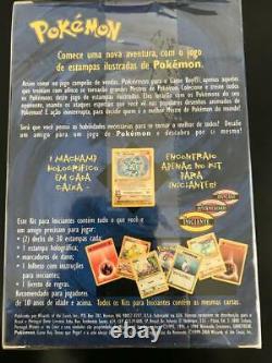 1st Edition Pokemon Sealed, Base Set, Starter Deck, in Portuguese. Vintage