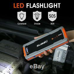 20000mAh 12V Car Jump Starter Booster Jumper Box Power Bank Battery Charger +LED