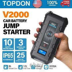 20800mAh Car Jump Starter Booster Jumper Box Power Bank Battery Charger Portable