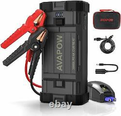 3000A Peak Car Jump Starter Booster Jumper Power Bank Battery Charger USB C