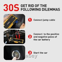 4000 Amps Heavy Duty Truck Car Battery Booster Pack Jump Starter Box Portable US