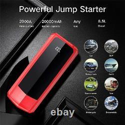 AUDEW 2000A Car Jump Starter Booster Jumper Power Bank Battery Charger