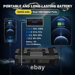 AVAPOW 6000A 32000mAh Car Jump Starter Battery Booster 12V Jump Battery Pack Box