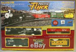 BACHMANN HO PACIFIC FLYER TRAIN SET READY TO RUN atlas steam engine 00692 NEW