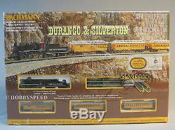 BACHMANN N SCALE DURANGO & SILVERTON TRAIN SET steam engine passenger 24020 NEW