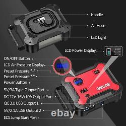 BUTURE 2500A Heavy Duty Truck Battery Booster Pack Jump Starter Portable Car