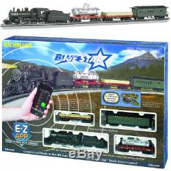Bachmann 01502 Blue Star Set with E-Z App Electric Train Set Bluetooth HO Scale