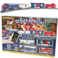 Bachmann 01503 Scout Special Electric Train Set withE-Z App Train Control HO Scale