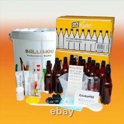Balliihoo Complete Starter Set With Bottles For Making Homebrew Beer Lager Kits