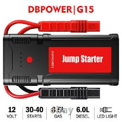 Battery Charger Car Jump Starter 12V Portable Power Bank Booster Jumper 2500A
