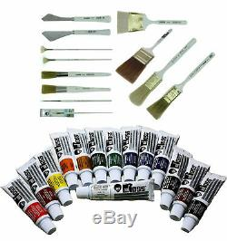 Bob Ross Ultimate Landscape Oil Paint and Brushes 26-Piece Painting Starter Set