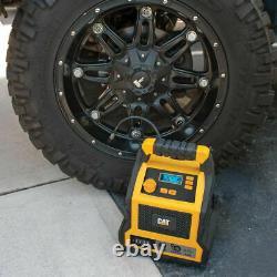 CAT 1000 Peak Amp Professional Jump Starter Compressor Tyre Inflator 4 USB