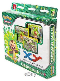 Chespin Froakie Fennekin Kalos XY Pokemon 210-Card Theme Deck 3-Starter Set