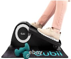 Cubii JR1 Compact Seated Elliptical Starter Set with 3 lb. Dumbbells and Gripii