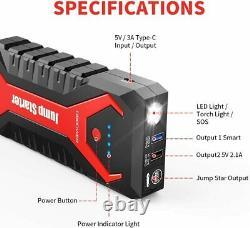 DBPOWER G16 2000A Peak 20800mAh Jump Starter Car Battery Charger Booster Pack
