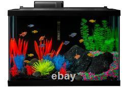 Fish Tank Aquarium Starter Kit Set 20 Gallon GloFish LED Pet Betta Fresh Water