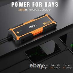 GOOLOO Portable Car Jump Starter 4000A Peak 12V 26000mAh Power Bank Battery US