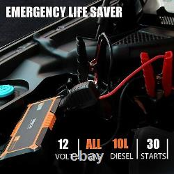 GOOLOO Powerful Car Jump Starter 4000A Peak All Gas Up to 10.0L Diesel Engine US