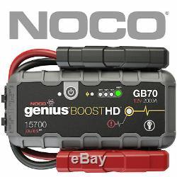 Genuine NOCO GB70 Genius Boost HD 2000A Lithium Jump Starter 1 Year Warranty