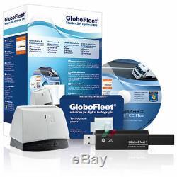 GloboFleet Starter Set Optimal DK Auslesegerät für LKW Fahrerkarte Tachograph