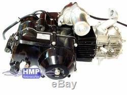 HMParts ATV / Quad Motor SET 125 ccm 4-Gang halbautomatik, E-Starter oben R0123