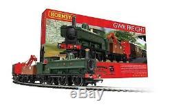 HORNBY R1254M GWR Freight Steam Loco OO ELECTRICAL TRAIN SET