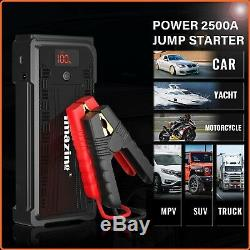Heavy Duty Truck Battery Booster Pack Jump Starter Box Portable 2500 Amps Power