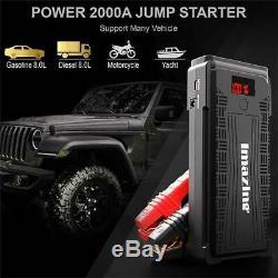 Imazing Portable Car Jump Starter 2500A Peak 12V Battery 20000mAH USB Power Bank