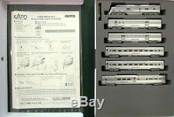 KATO 106090 N SCALE E5A Pass 6 unit Set CB&Q Silver Streak Zephyr 106-090 -NEW