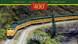 KATO 106104 + 1765365 N C&NW E8AA 2 LOCO Pullman Bi-Level 400 7-Unit Train