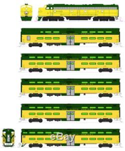 KATO 106104 N SCALE C&NW EMD E8A & Pullman Bi-Level 400 Train 6-Unit Set 106-104