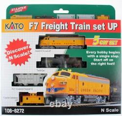 KATO 1066272 N SCALE F7 5 Unit Freight Train Starter Set UP 106-6272