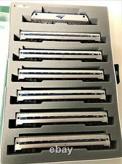 KATO 1068001BNDL N ACS-64 NE Corridor Bundle LOCO & 6 CARS 7-PC Set 106-8001BNDL