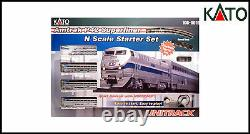 KATO Amtrak P42 & 3 x Superliner Coaches N Scale Unitrack Starter Set New