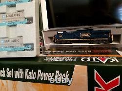 KATO-N-Scale CSX-MAERSK ES44AC INTERMODAL HAND PICKED Train Set Complete New RTR