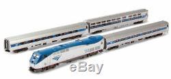 Kato N Scale Amtrak Phase VI Viewliner Innercity Express Loco +3 Car Set 1066285
