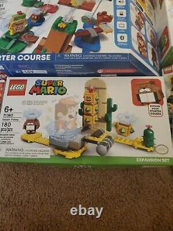 LEGO Super Mario Starter Course, Expansions, Fire Mario, Desert, Yoshi House LOT