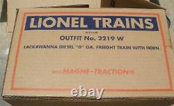 LIONEL #2219 W FM TRAIN MASTER #2321 LACKAWANNA FREIGHT SET O Gauge 6-31776
