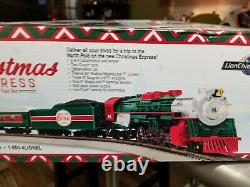 LIONEL HO SCALE CHRISTMAS EXPRESS TRAIN SET sleigh santa remote track 871811020