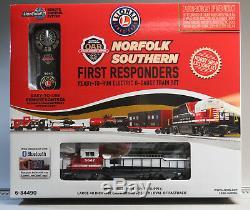 Lionel Ns First Responders Diesel Gp38 Bluetooth Train Set O Gauge 6-84490 New