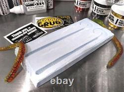 Liquid Plastic SUPER STARTER SET Big Worm Mold plastisol fishing lure making kit