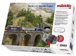 MARKLIN 29483 Swiss Freight Train Starter Set. HO SCALE NEW