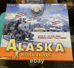NEW LIONEL ALASKA WORK TRAIN OPERATING Complete Set 6-30045