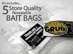 NEW Liquid Plastic SUPER STARTER SET Craw Mold plastisol fishing lure making kit