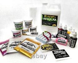 NEW Liquid Plastic SUPER STARTER SET Worm Mold plastisol fishing lure making kit
