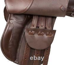 New All Purpose Brown English Saddle Starter Set Brown Tack 15 16 17 18