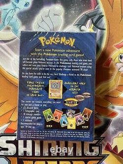 Pokemon Card 2-Player Starter Set Shadowless Theme Deck SEALED 1999 WOTC