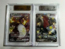 Pokemon Shiny Star V Charizard VMAX BGS 9.5 and Charizard V BGS 9 with Subgrades
