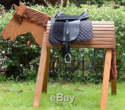 Ponysattel Sattel f. Holzpferd Reitersattel 12 Zoll Reitsattel Pony Starter Set