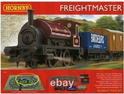 R1223 Hornby Train Set 00 Gauge Freightmaster Complete Starter Train Set Boxed